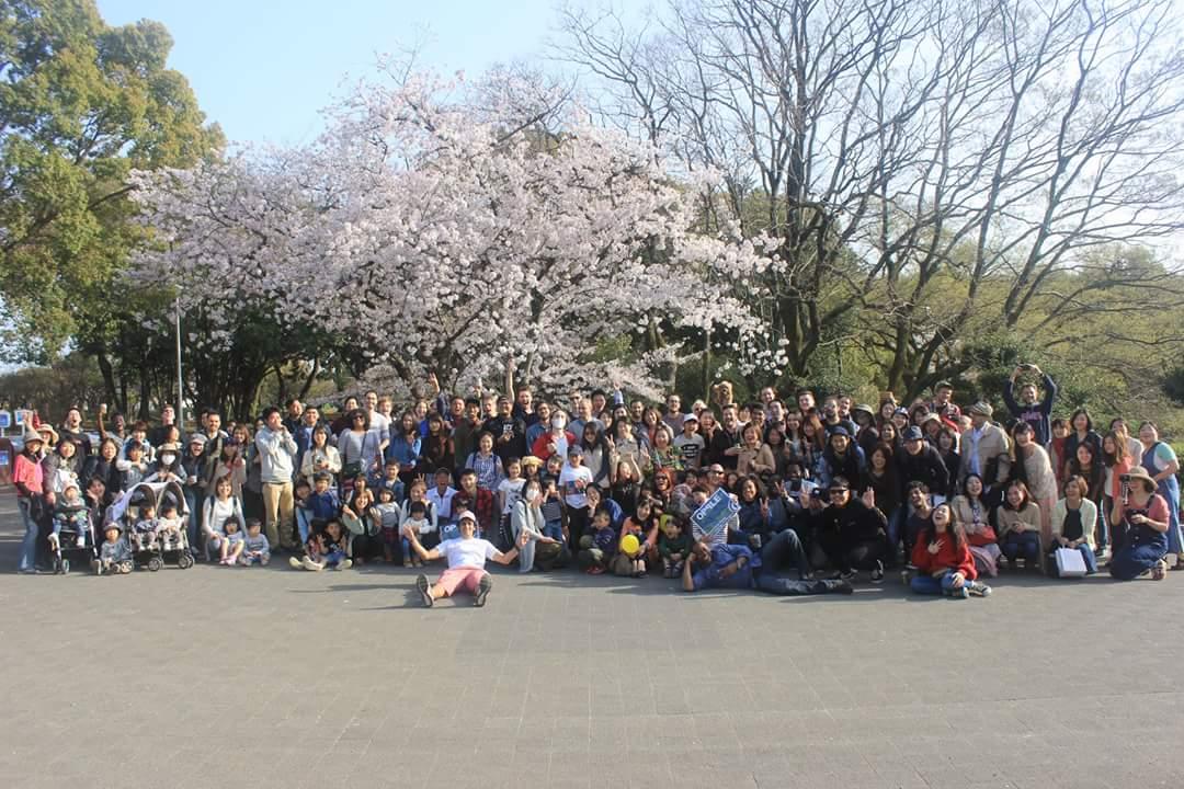 参加者156人!!多国籍OPPLE ことのはお花見パーティ❀2018